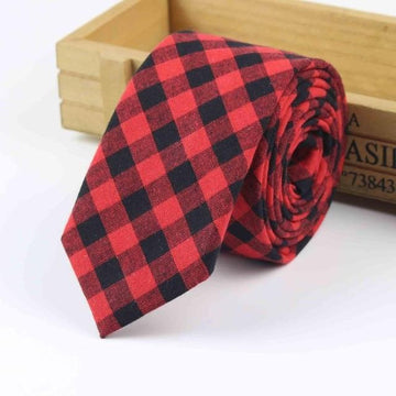 Otley Red Skinny Tie