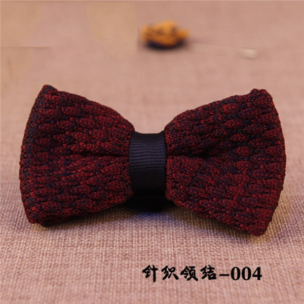 Unique Knit Bow Tie 1