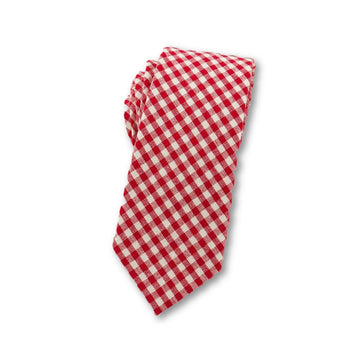 Dirty Little Secret Plaid Necktie Red