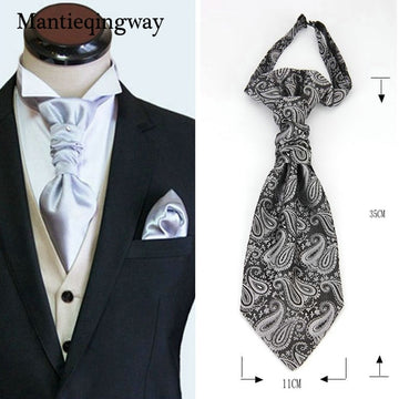 Classic Double Neck Ties For for Wedding Gravata