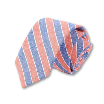 Downtown Berlin Striped Necktie Orange