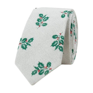 Evergreen Holly Necktie
