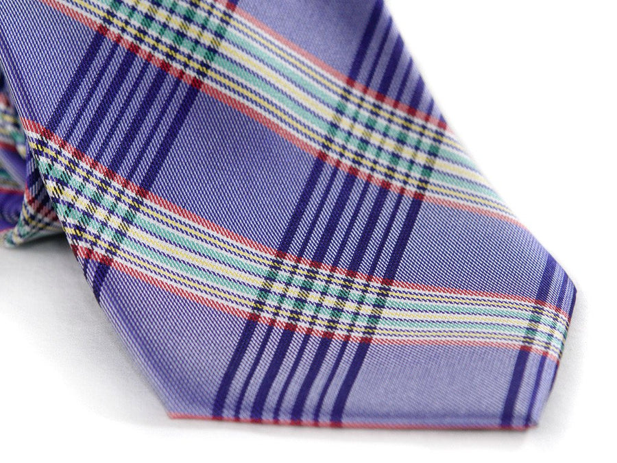 Purple Tartan Plaid Necktie