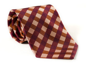 Rocky Red Plaid Necktie