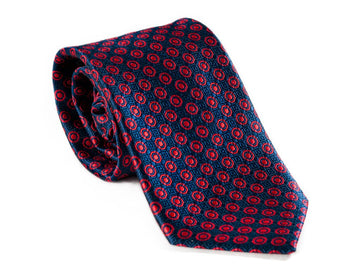 Sly Ry Circle Pattern Necktie