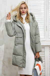Padded Parka Over Coat