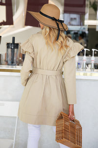 Ruffle Trench Coat
