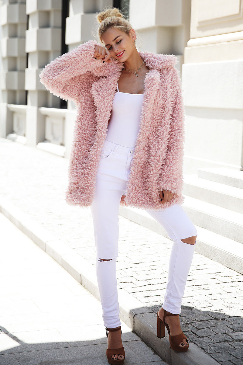 Faux Fur Fuzzy Coat