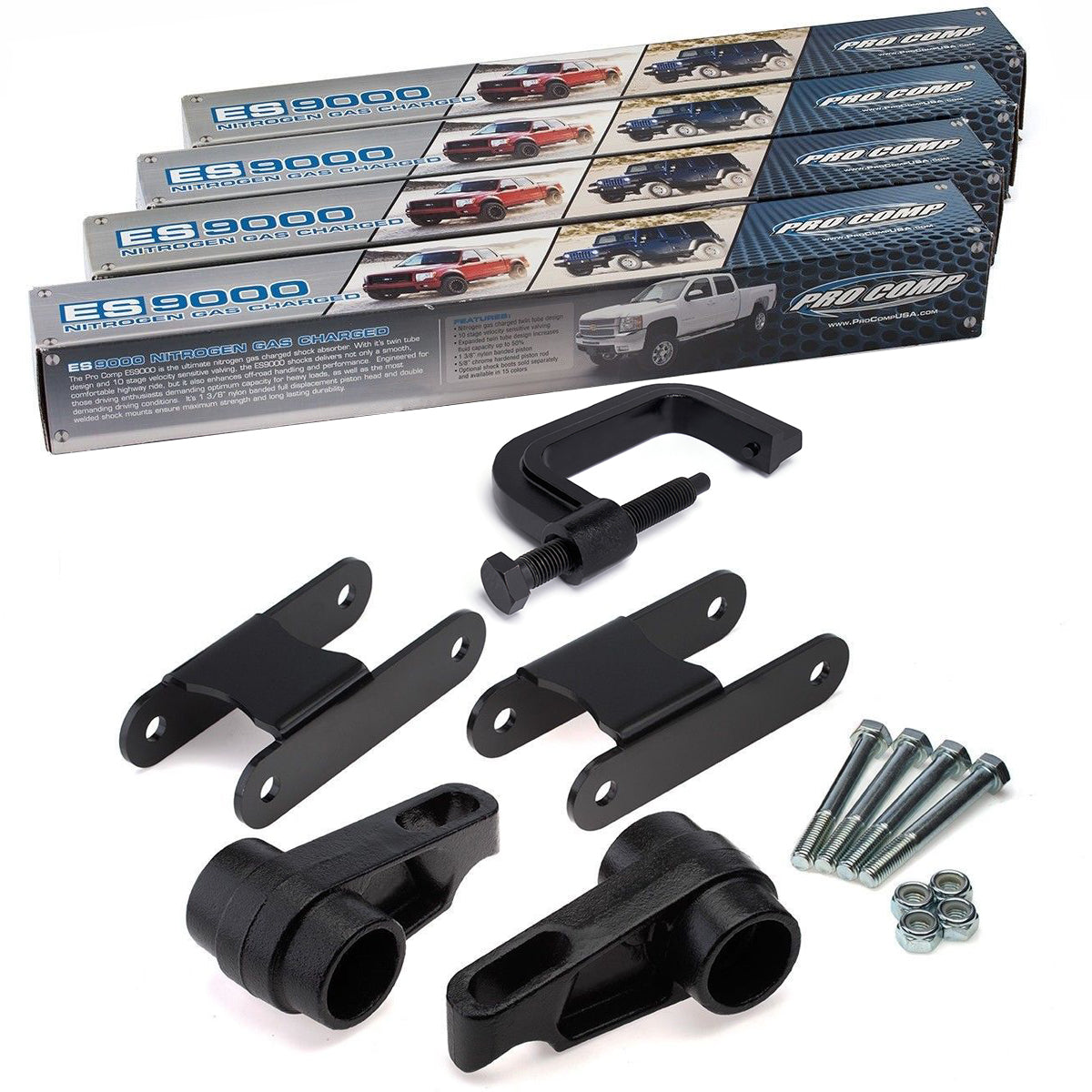 2004-2012 Chevrolet Colorado Full Lift Kit with Extended Shocks and Torsion Key Unloading/Removal Tool