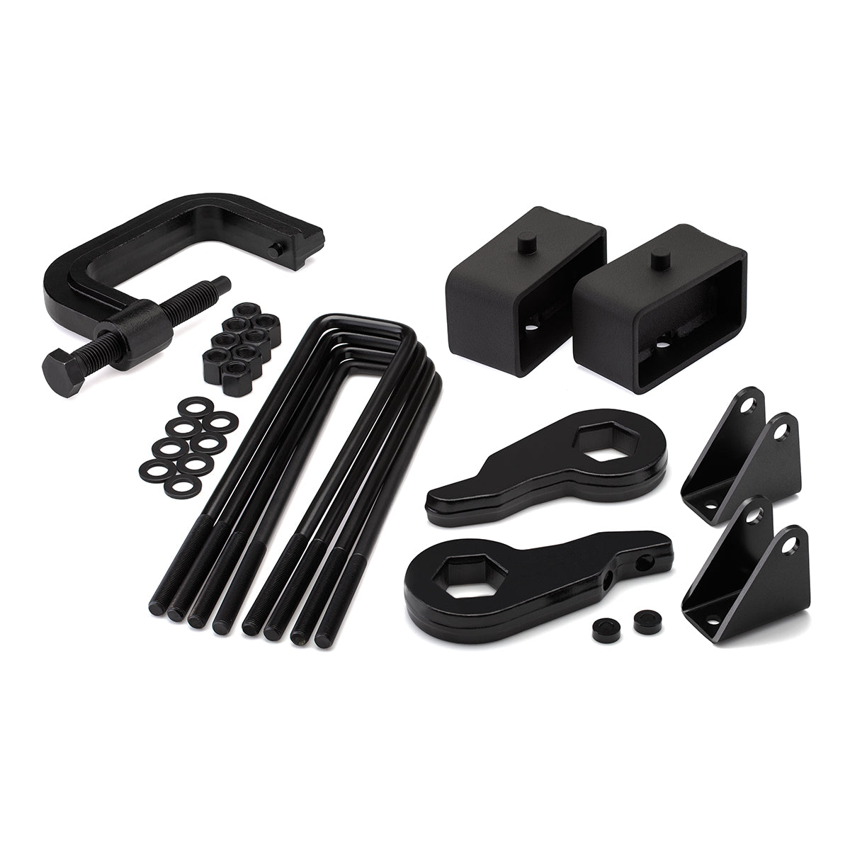 2000-2010 Chevy Silverado 2500HD Full Lift Kit with Shock Extender Brackets and Torsion Key Unloading/Removal Tool