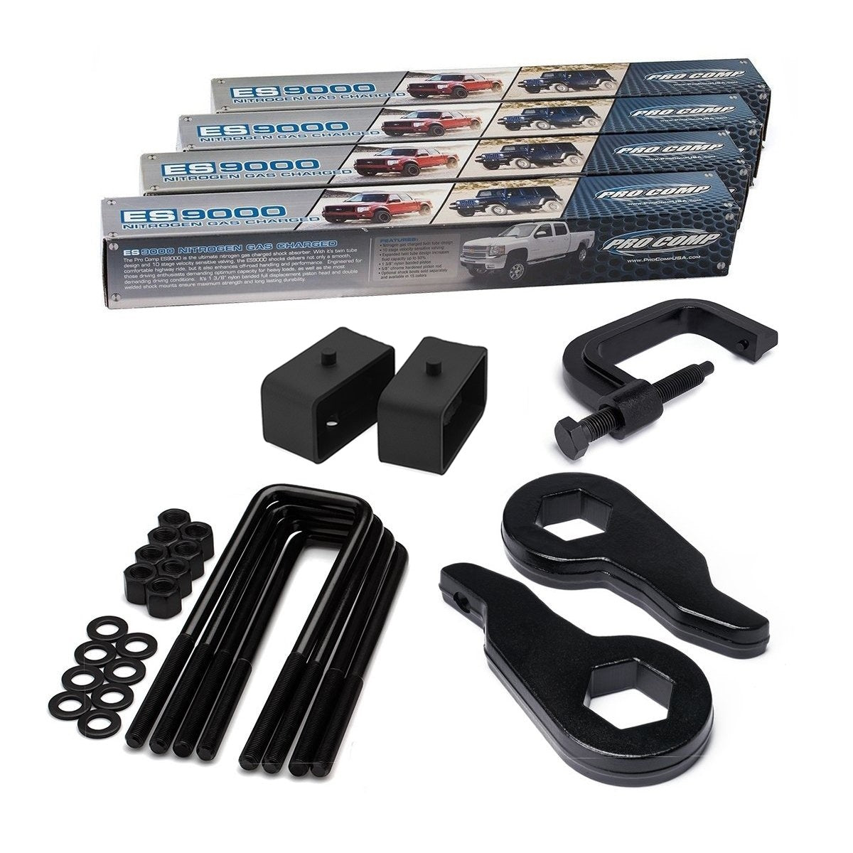 2000-2012 Chevy Suburban Full Lift Kit with Extended Shocks and Torsion Key Unloading/Removal Tool