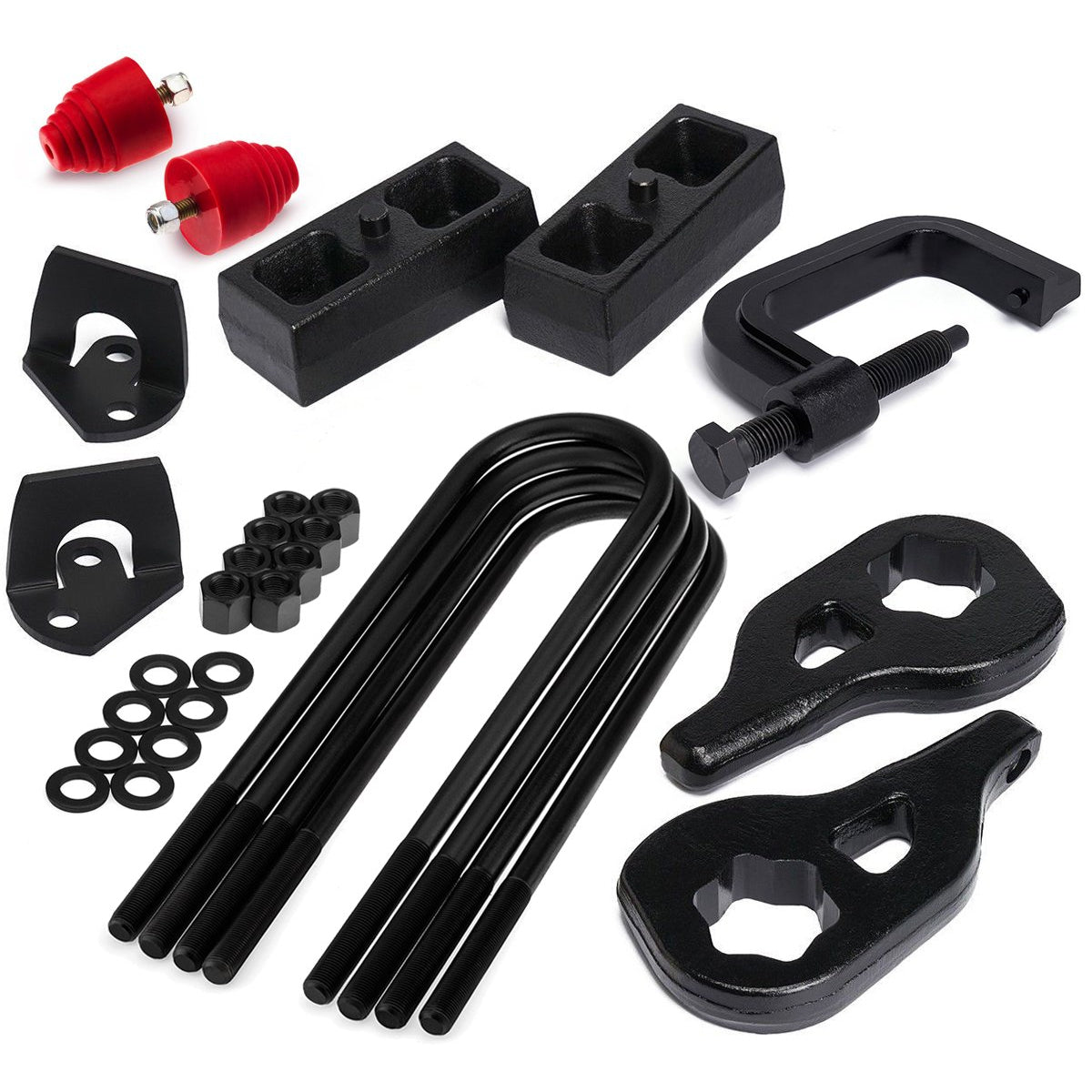 2002-2005 Dodge Ram 1500 Full Lift Kit with Shock Extensions Bump Stops and Torsion Key Unloading/Removal Tool