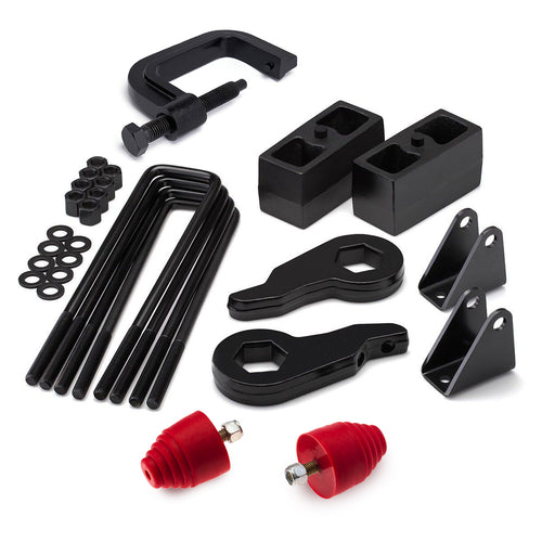 2000-2010 GMC Sierra 3500HD Full Lift Kit with Shock Extender Brackets and Bump Stops and Torsion Key Unloading/Removal Tool