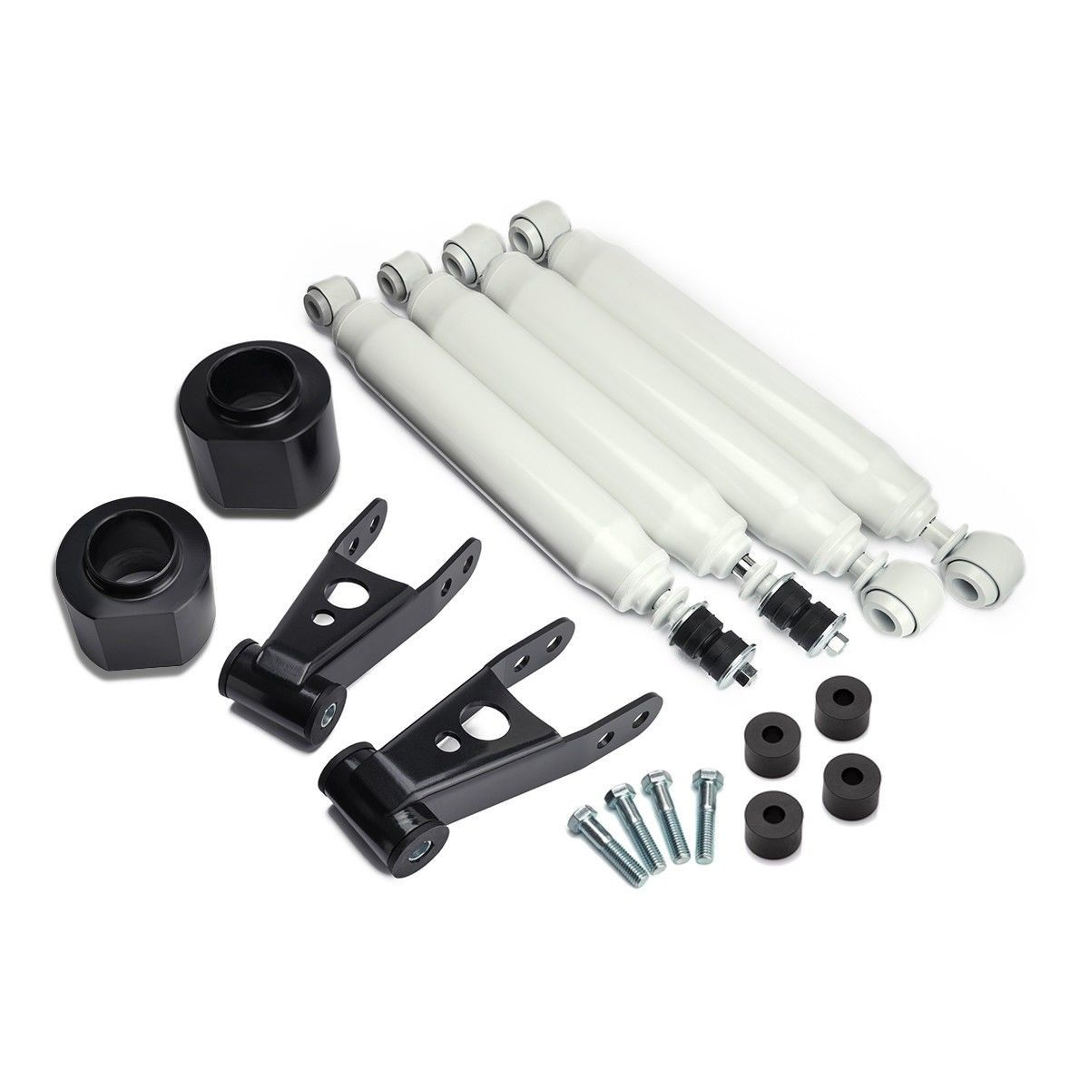 1984-2001 Jeep Cherokee XJ Full Lift Kit with Adjustable Shackle +Transfer Case Drop and Shocks