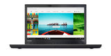 "Lenovo ThinkPad T470 Laptop with Intel Core i5-7300U Processor, 8GB DDR4 RAM, 180GB SSD, Black - 14"" - Black - 20HD004BUS"