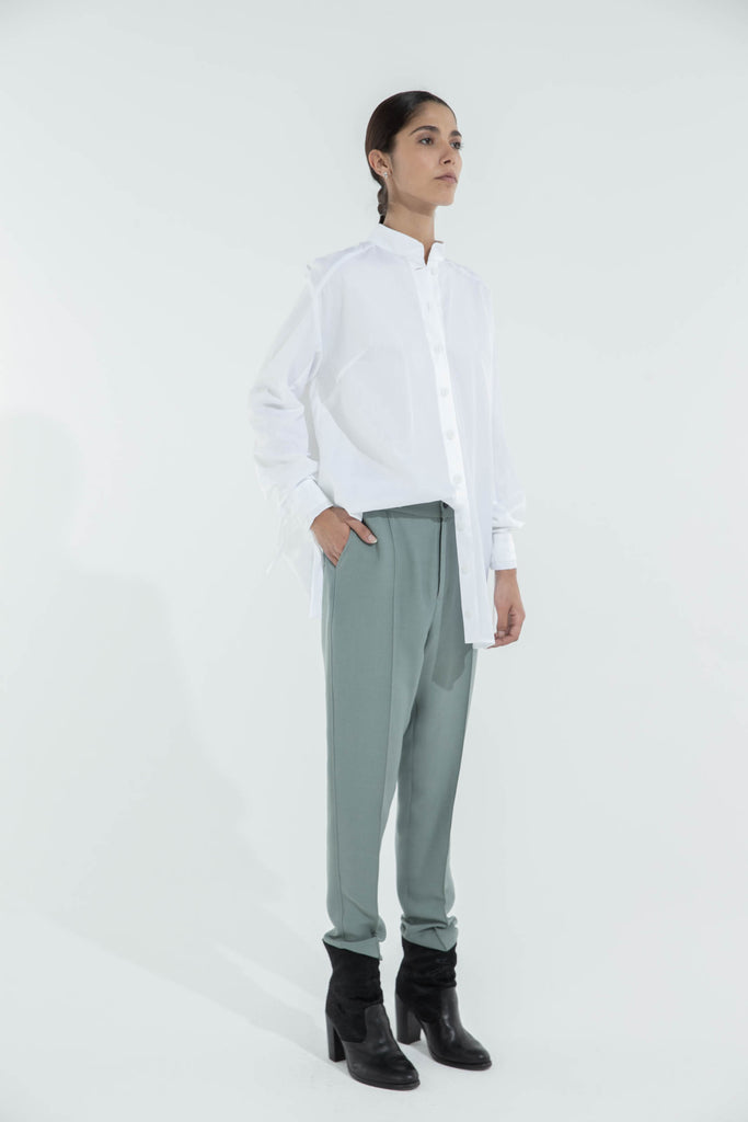 DROP TROUSERS - OLIVE GREEN