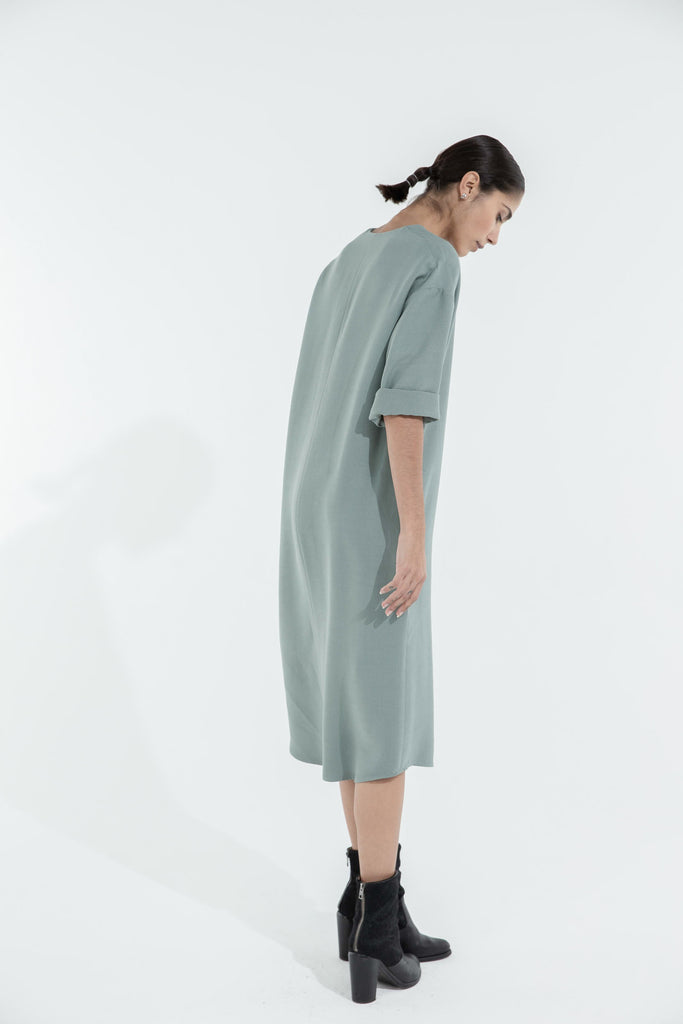 WILLY DRESS - OLIVE GREEN