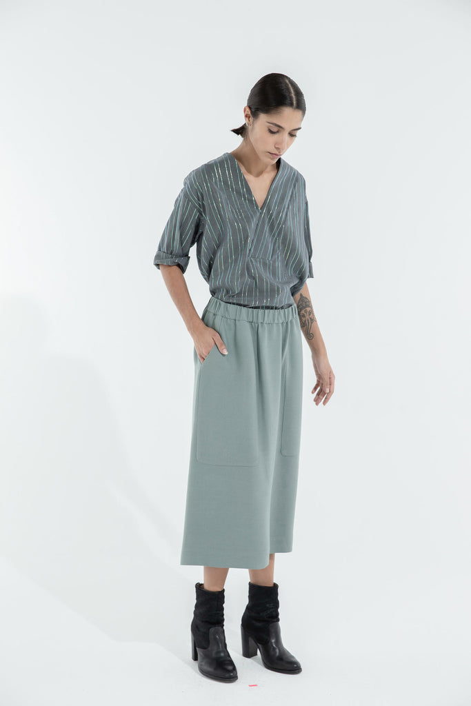 POLLY SKIRT - OLIVE GREEN