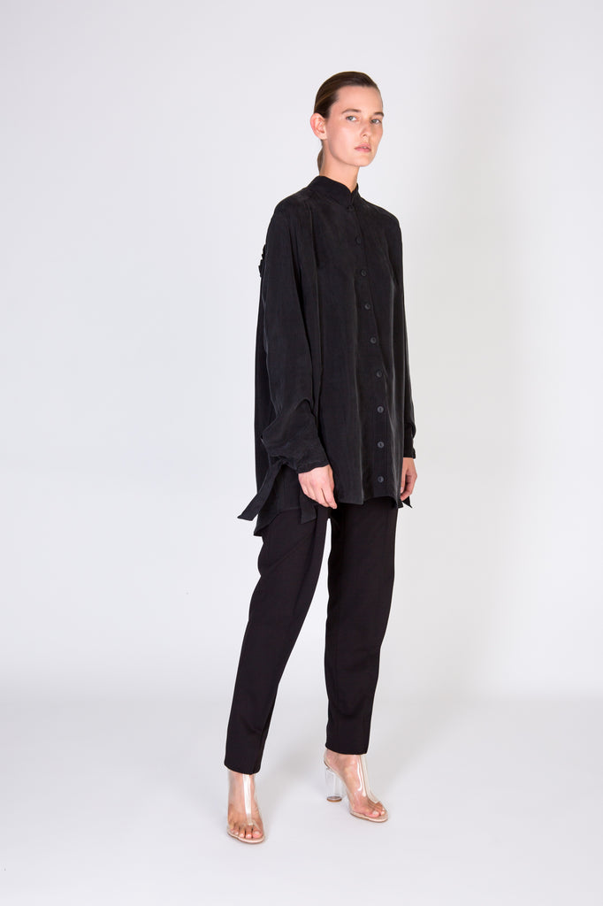FOLD TROUSERS - BLACK