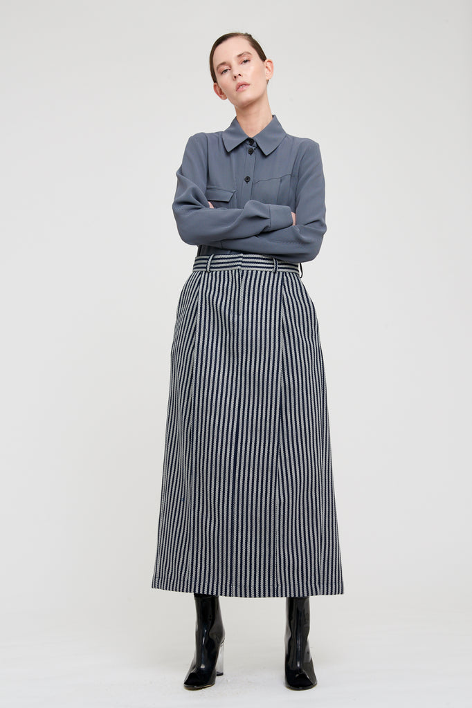 LEA SKIRT - BLUE STRIPE