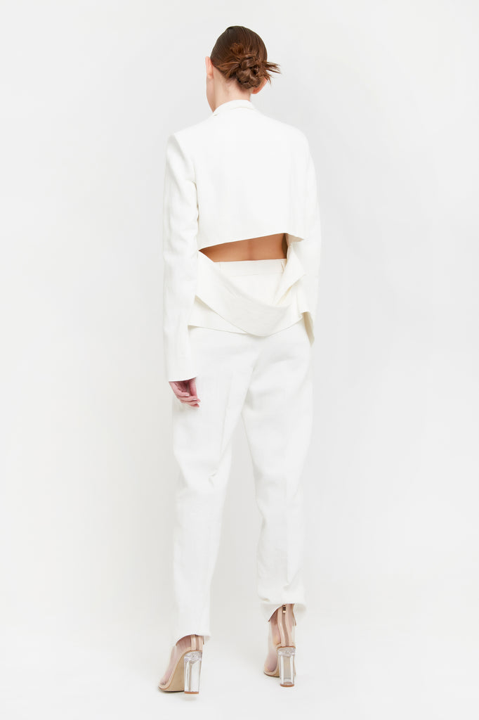 Fernande Trousers - White Canvas