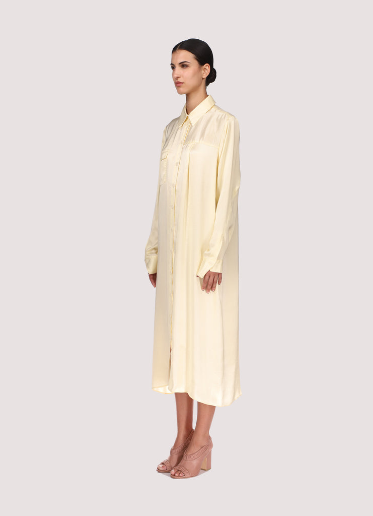 DEMI DRESS - YELLOW SILK