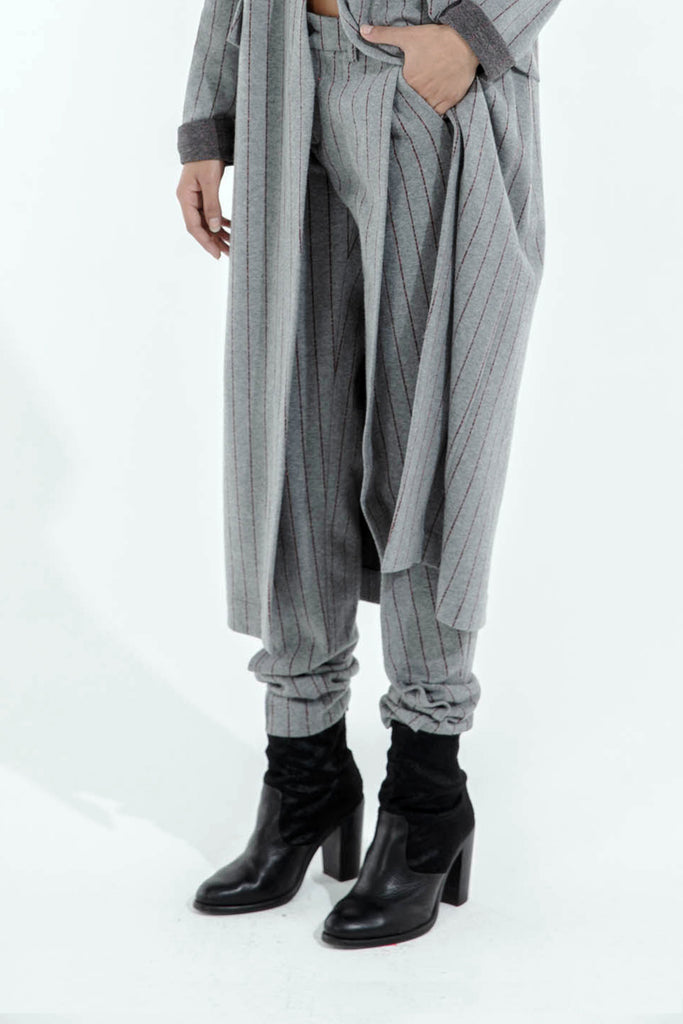 FOLD TROUSERS - GREY