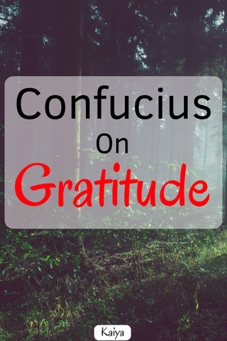 Confucius on Gratitude