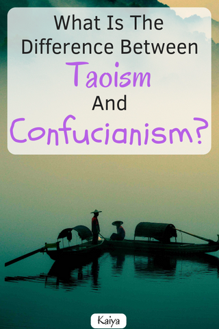 What is the difference between Confucianism and Taoism?