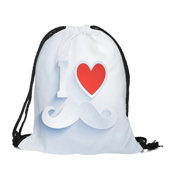 Valentine's Day Lover couples Drawstring Bag