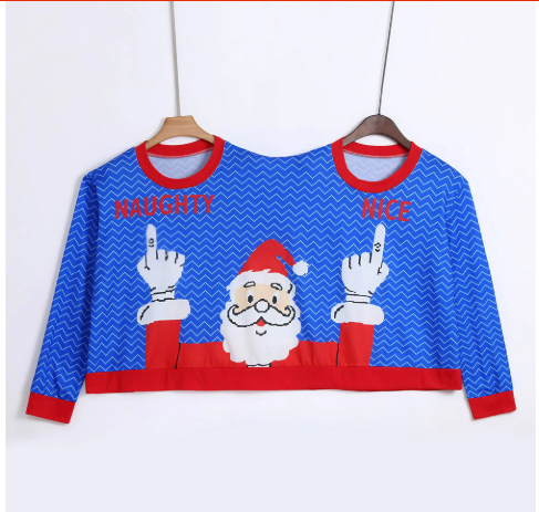 Couples Pullovers - Ugly Santa Christmas Sweater