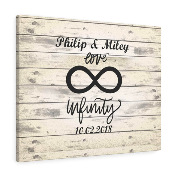 Personalized Infinity Love Canvas Print
