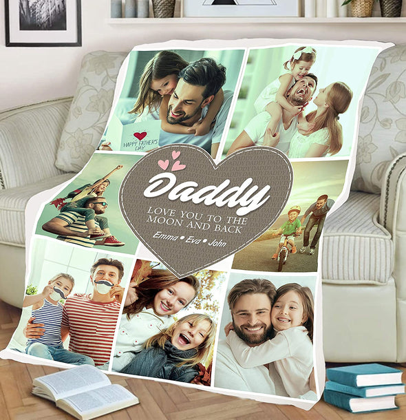 Father's Day Special **Daddy Love Custom Blanket**