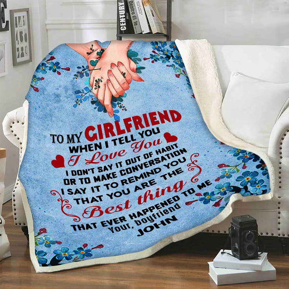 """To My Girlfriend Best Thing""- Personalized Blanket"