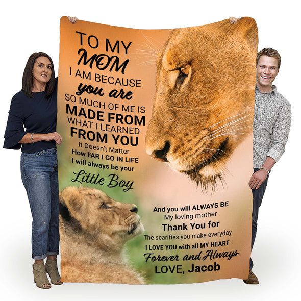"""To My Mom Forever And Always Love""- Personalized Blanket"