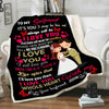 """To My Girlfriend I Love You With My Whole Heart ""- Personalized Blanket"