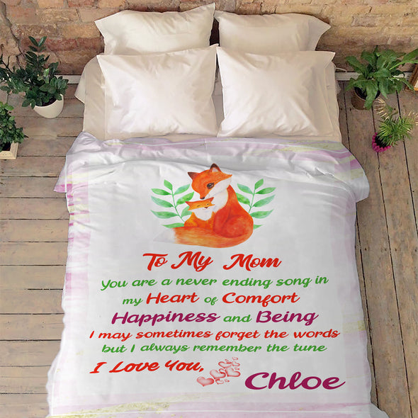 """To My Mom My Heart Of Comfort""- Personalized Blanket"