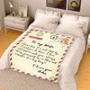 Personalized Postcard Message Blanket For Wife