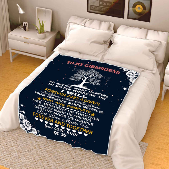 """To My Girlfriend Forever And Together ""- Personalized Blanket"