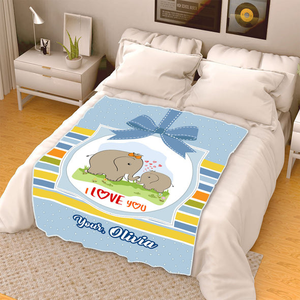 """To My Mother I Love You""- Personalized Blanket"