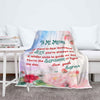 """To My Mother You're The Sunshine To Light My Day""- Personalized Blanket"