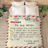 Personalized Romantic Postcard Blanket