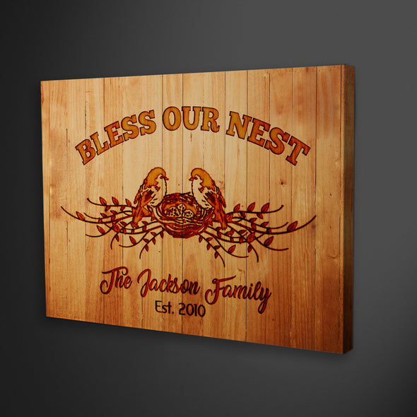 """Bless Our Nest"" Family Wall Decor"