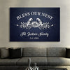 """God Bless My Family"" Personalized Canvas"