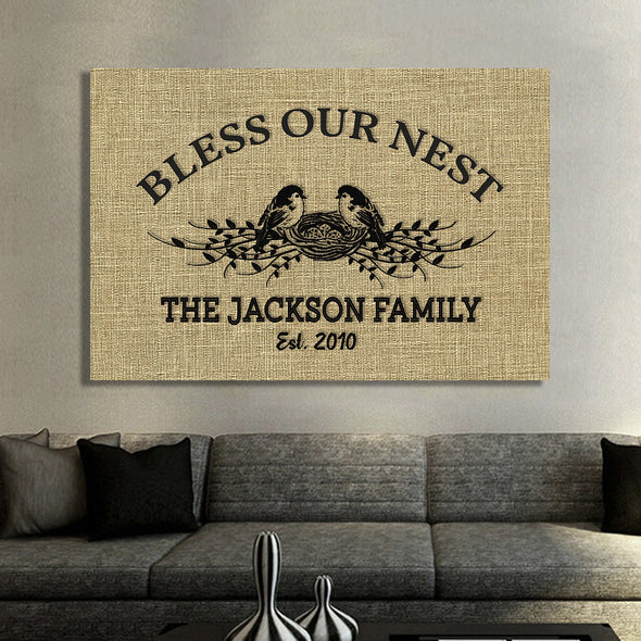"Personalized Family Wall Art -30""x20"""