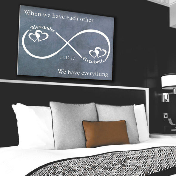Custom Infinity Canvas - The Perfect Gift