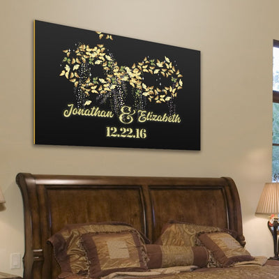 custom canvas wall art exclusively made celebrity pair