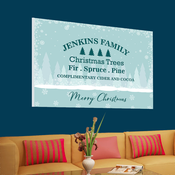 Christmas Custom Family Canvas Wall Art - Exclusively Made
