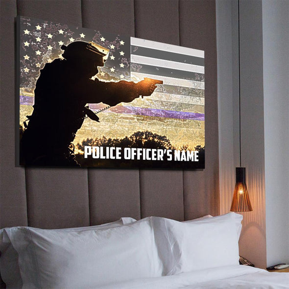 Customizable Police Canvas Wall Decor
