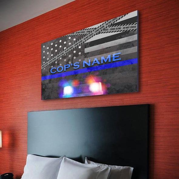 Personalized Police Siren Canvas